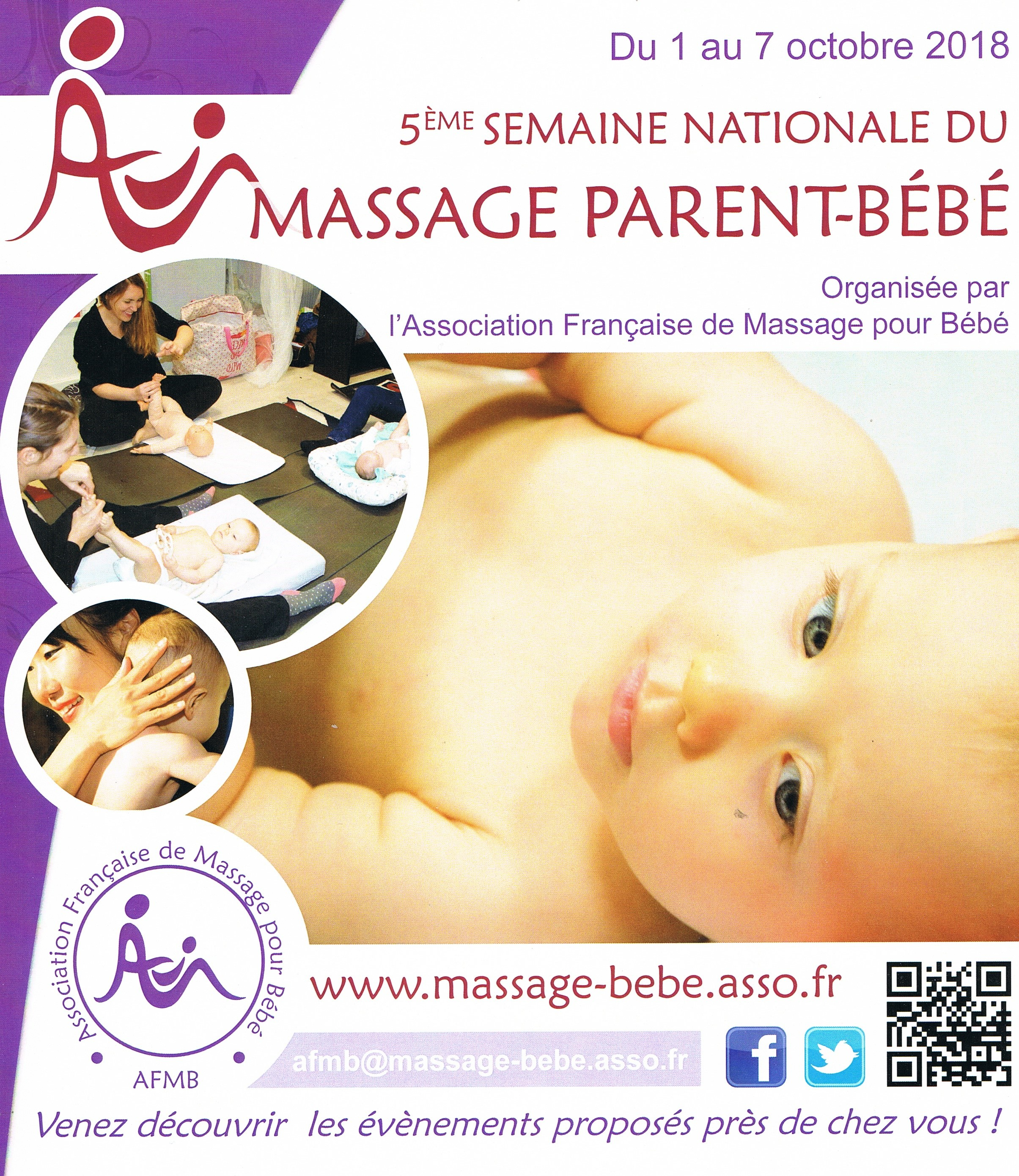 Semaine nationale du massage parent bebe